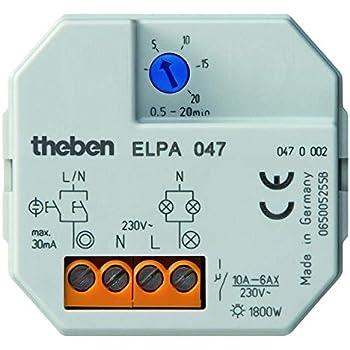 Theben 0470002 ELPA 047 - Temporizador para luz de la escalera: Amazon.es: Iluminación