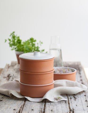 Edler Sprossenturm aus Terrakotta, Keimsprossenhaus, Anzucht von Keimsprossen - Lieferung incl. 100g Sprossenmischung!