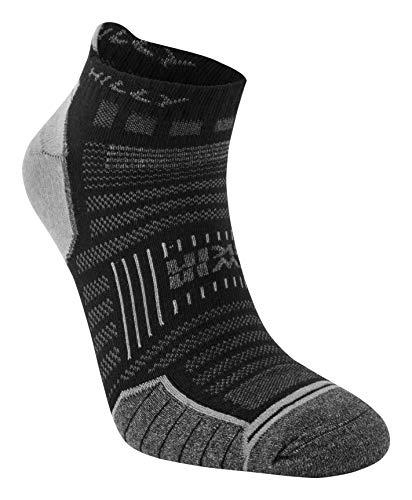 Hilly Twin Skin Socklet Socks - Black/Greymarl, Large