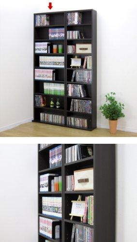 『クロシオ 薄型 文庫書棚 ブラウン 幅60cm高180cm コミック本棚 漫画本棚』の2枚目の画像