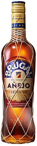 Brugal Añejo Premium Rum, milde Aromen mit Holznoten und Kokos für ausgewogene Drinks, 38% Vol, 1 x 1l