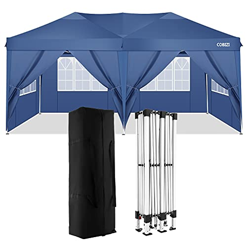 CAROMA Gazebo da giardino, Gazebo 3m x 6m con lati Tenda parasole portatile Gazebo Picnic Tenda gazebo istantanea Gazebo Gazebo pieghevole istantaneo con borsa a ruote