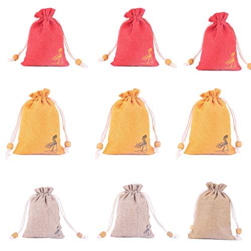 24 Piezas Bolsitas de Tela para Regalos, Bolsa De Regalo Con Cordón, Multicolor Arpillera Pequeña Bolsas De Regalo Para Bodas, Fiestas, Bricolaje Manualidades(4*5,6')