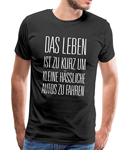Leben zu Kurz für Kleine Autos Männer Premium T-Shirt, 4XL, Schwarz