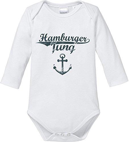 EZYshirt® Hamburger Jung & Deern Vol. 2 Baby Body Longsleeve Bio Baumwolle