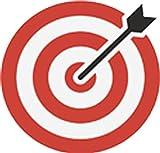 Simple Bullseye Arrow Archery Target Cartoon Icon Vinyl Decal Sticker (4