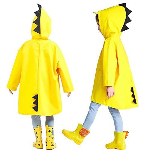 Mioloe Kids Impermeabile Bambini Pioggia Giacca Impermeabile Pioggia Poncho Pioggia Mantello Pioggia Indossare Cute Unisex Storm Break Pioggia Slicker