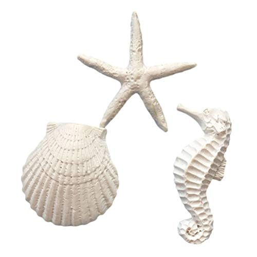 SUPVOX Résine Aquarium Artisanat Micro Paysage Sea Star Hippocampe Coquillage pour Fish Tank 30 Pcs