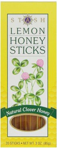 Stash Tea Lemon Honey Sticks, 20 Count Stick, net wt. 3oz.