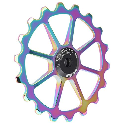 Faceuer Polea de Cambio Trasero, polea de Cambio Trasero de Bicicleta Rueda de guía Trasera La Rueda de guía Trasera es Sensible y Segura para Bicicletas con Rodillos guía(Bright Color)