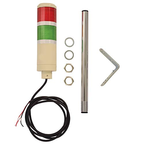 3 Pos On-Off-Flash 8 ft Power Cord Signaworks 5 Stack LED Andon Tower Light Red//Amber//Green//Blue//White Plug /& Play Ready