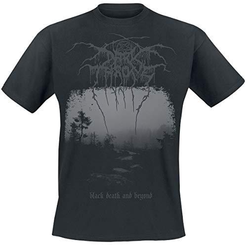 Preisvergleich Produktbild Darkthrone Black Death and Beyond Männer T-Shirt schwarz S 100% Baumwolle Band-Merch
