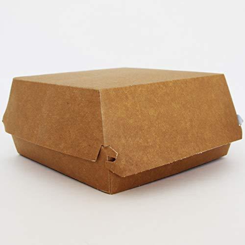 Extiff - Lote de 50 Cajas para Hamburguesa, Grandes y Altas, de cartón Reciclado, 12,5 x 11 x 4,5 cm