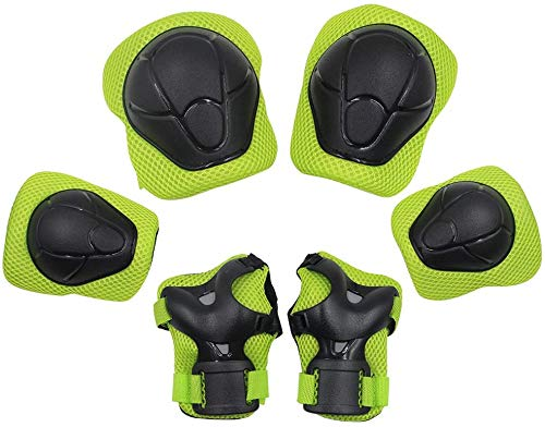 KUYOU Child Kids Protective Gear Set,Knee and Elbow Pads with Wrist Guards Toddler for...