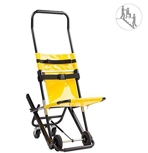 GLJY HSRG Faltbarer EMS Treppenstuhl, Medizinische Mobilitätshilfe aus Aluminium für ältere Menschen mit Behinderung, Kapazität 159 kg