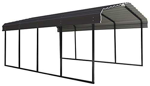 Arrow 12 x 20 x 7-Foot Heavy Duty Galvanized Steel Metal Multi-Use Shelter, Shade, Carport, 12