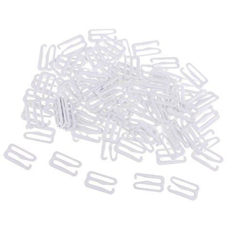 sharprepublic 100 Stücke Bikini 9 Haken Metall Nähen Haken Clip Verschluss Badeanzug Gurt Verschluss - 15 mm