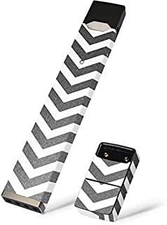 Skinit Silver Chevron Skin for Juul Premium Wraps for Juul Device - Original Chevron Design - Ultra Thin 3M Vinyl, Residue Free, Easy Application