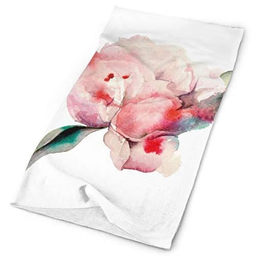 Headwear Headband Head Scarf Wrap Sweatband,Hand Drawn Watercolor Peonies Realistic Flower In Warm Color Palette Nature,Sport Headscarves For Men Women