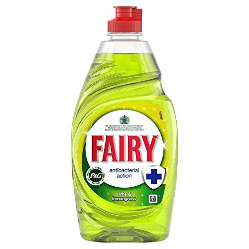 Fairy Antibacterial Washing Up Liquid Lime & Lemongrass (383ml) - Pack of 2