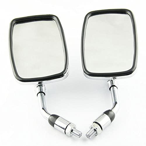 2 uds 10mm plata espejo retrovisor de motocicleta apto para Honda NV400 NV600 NV750 VT400 VT500 VT600 VT700 Shadow 400500600700