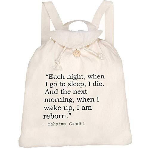 Azeeda Death Quote By Mahatma Gandhi Canvas Rucksack / Backpack (RK00006002)