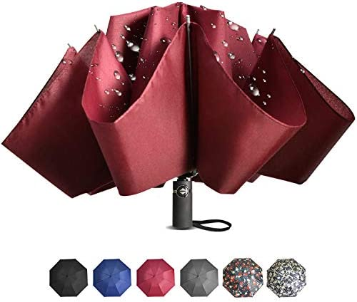 Brainstorming Travel Reverse Umbrella Compact Inverted Umbrella for Outdoor Travel Portable product image