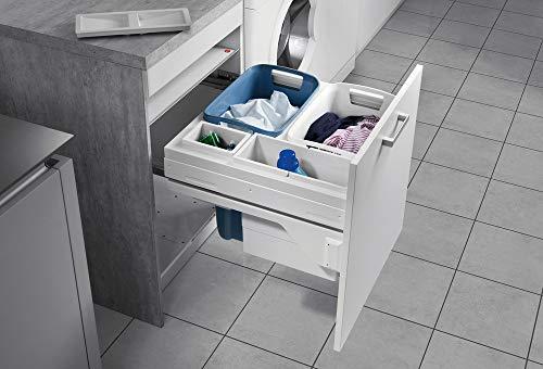 Hailo Laundry Carrier Küchen-Abfalleimer, Weiß, One Size