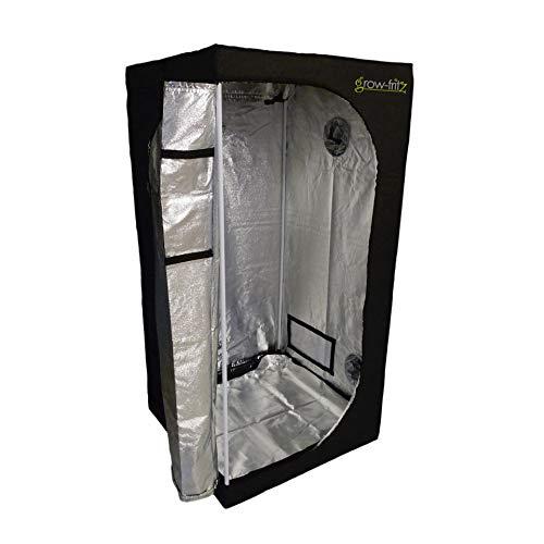 grow-fritz Growzelt 80x80x160cm lichtundurchlässig, Sichtfenster Variable Anschlussmöglichkeiten Growbox Zuchtschrank Growtent Gewächszelt Zelt Homegrow