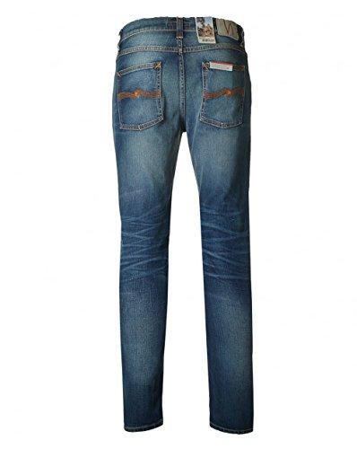 Nudie Jeans Herren Slim Jeans Lean Dean, Blau (Slow Worn), W36/L34