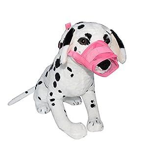 Muselière pour chien, Obstiné réglable en nylon Muselière en maille doux Muselière de sécurité éviter les mordre aboiements à mâcher pour petit moyen grand chien, 5tailles 3couleurs Options