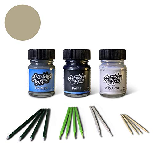 ScratchesHappen Exact-Match Touch Up Paint Kit Compatibel met Toyota Champagne/Creme Brulee (5B2) Preferred