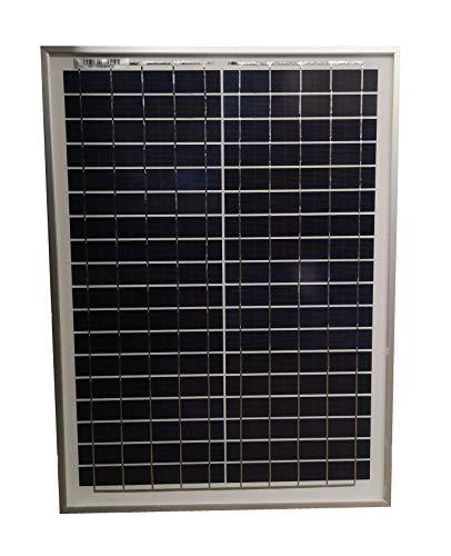 Panel solar policristalino de alta eficiencia de 20 W para cargar baterías de 12 V en caravanas, autocaravanas, barcos y soluciones de alimentación fuera de red