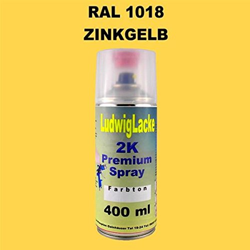 RAL 1018 ZINKGELB 2K Premium Spray 400ml