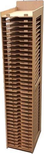 Wood Addicts Mueble estantería para Guardar Papeles Scrap, Scrapbooking (45x30)