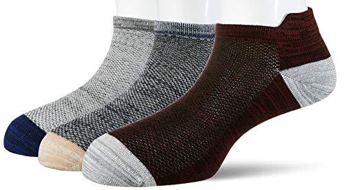 Amazon Brand – Inkast Denim Co. Men's Calf Socks (Pack of 3) (INKSCKNS059_Multicoloured_One Size)