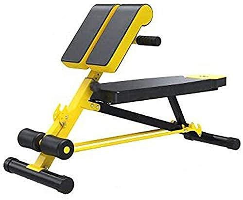 mjj Banco de pesas plegable y ajustable, silla de fitness, banco de pesas multifuncional, respaldo para entrenamiento en casa