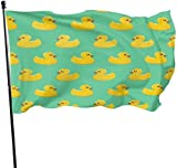 xianxin Flagge/Fahne Fun Novelty Rubber Ducky Garden Flags Durable Fade Resistant Decorative Flags Premium Quality Official Flag with Grommets Polyester Deluxe Outdoor Banner for All Seasons...