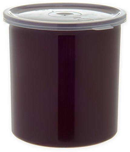 CARLISLE 030101 뚜껑이있는 솔리드 컬러 상업용 라운드 보관 용기 1.2 쿼트 용량 브라운