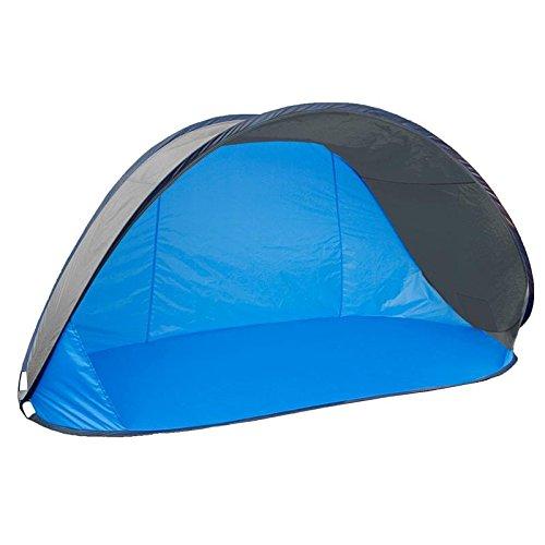 EXPLORER 46220 Protection UV 80 en Quelques Secondes Fond Cousu Fonction Pop Up Tente de Plage Jardin Plage Extérieur Coquillage Protection Solaire Vacances 220 x 120 x 100 cm