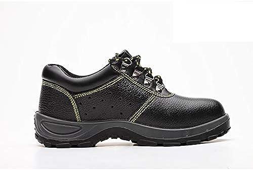 ZYFXZ Sicherheitsschuhe Anti-Smashing und Anti-Piercing alte Schutzschuhe, Wasserdichte Rutschfeste Schuhe mit Fester Sohle, atmungsaktive Sommer-Deo-Schuhe Arbeitsschuhe (Farbe   A, Größe   45)