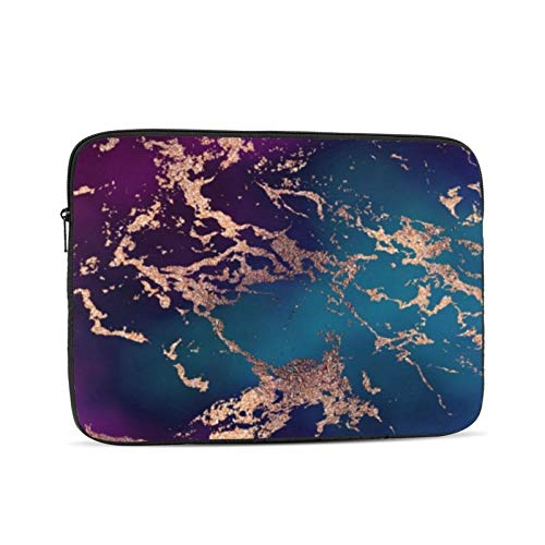 Marble Luxe Decor Dark Purple And Teal With Gold 13 Inch Laptop Sleeve Bag Compatible with 13.3' Old MacBook Air (A1466 A1369) Notebook Computer Protective Case Cover