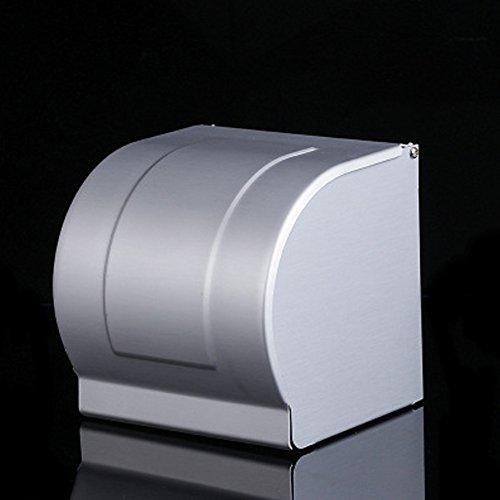 CVERY Toilettenpapierhalter, vertiefter Handtuchhalter, geschlossener Wasser- / staubdichter Raum-Aluminium-Tissue-Kasten für Badezimmer-Hotel-Haus