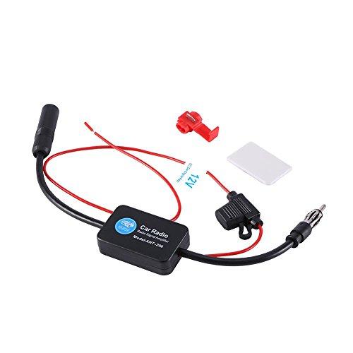 Keenso Autoradio-antenneversterker, signaalbooster FM-signaalversterker voor autoradio auto FM-radio antenne signaalontvangst versterker booster