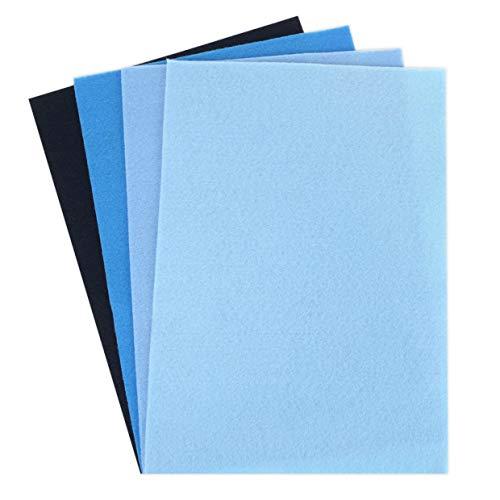 Dovecraft Fogli di Feltro, Blu, Multi Colour, 1
