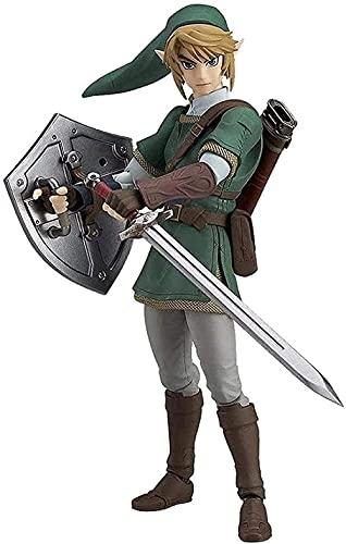 LA Leyenda DE Zelda: Link DE Espada Dusk Princess DEUXE EDICIÓN DE LA EDICIÓN DE PVC Decorativo (5 Pulgadas) Regalos de Anime Regalos Juguetes Modelo Kits