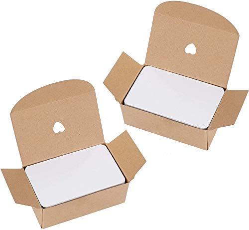 Tarjetas de Papel Blanco 200 Piezas Tarjetas de Mensaje para DIY Mensaje Etiquetas de Regalo 9*5cm