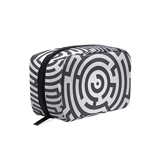 LORONA Maze Puzzel raadsel Quiz Labyrinth Cosmetic Pouch Koppeling Make-up Bag Travel Organizer Case Toilettas voor Vrouwen
