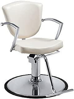 Standish Salon Goods Veronica Hydraulic White Hair Salon Chair Salon Spa Beauty Equipment