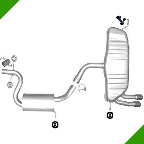 Seat Leon 1,8 TSI Mitteltopf Endtopf Auspuff Auspuffanlage Anbausatz